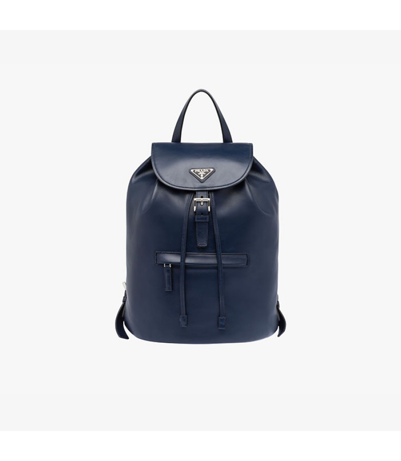 e801212ca33828 ... italy prada bz032l leather backpack in navy blue 202c9 64372