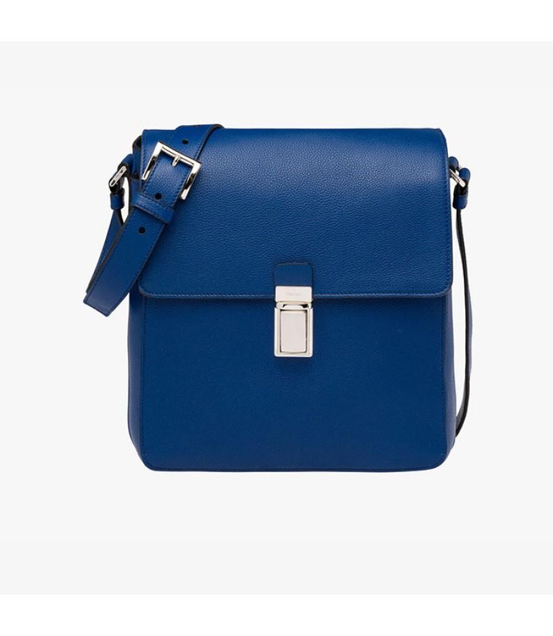 300915212647 ... crossbody handbag 317ac 154cb  ireland prada v1036t leather messenger  bag in blue 68319 fa6cd