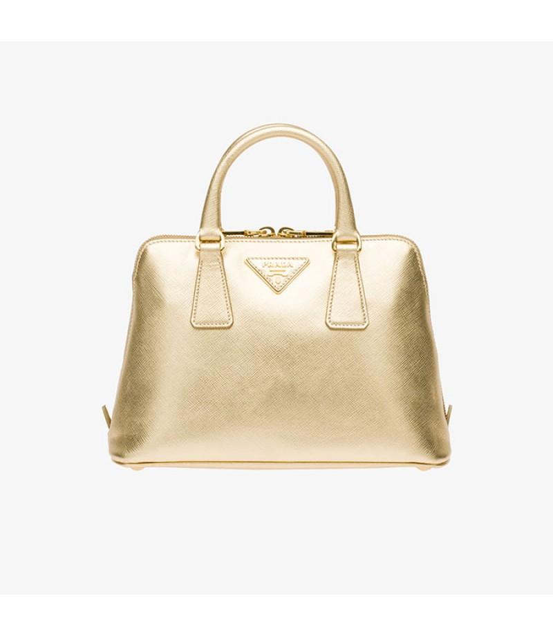 d2089ad2b7e1 ... spain prada bl0838 womens saffiano leather top handle bag gold a3c42  fd936