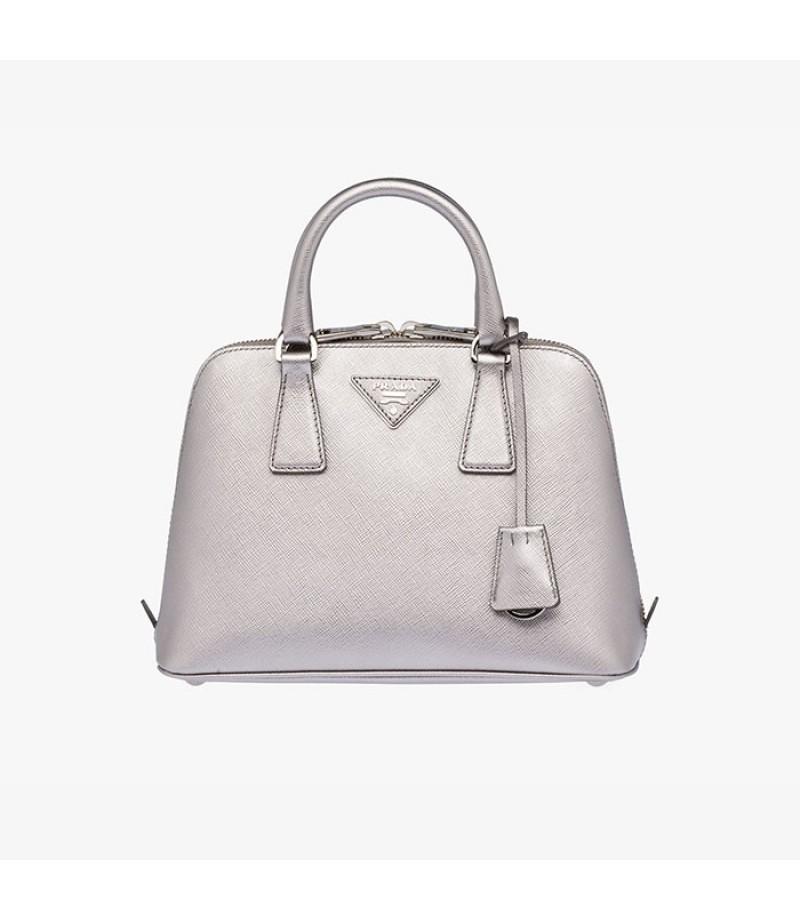 8add7ef3bf91 store prada bn0838 handbags in yellowish brown 183e5 47a9f  greece prada  bl0838 womens saffiano leather top handle bag silver a599c 5358b