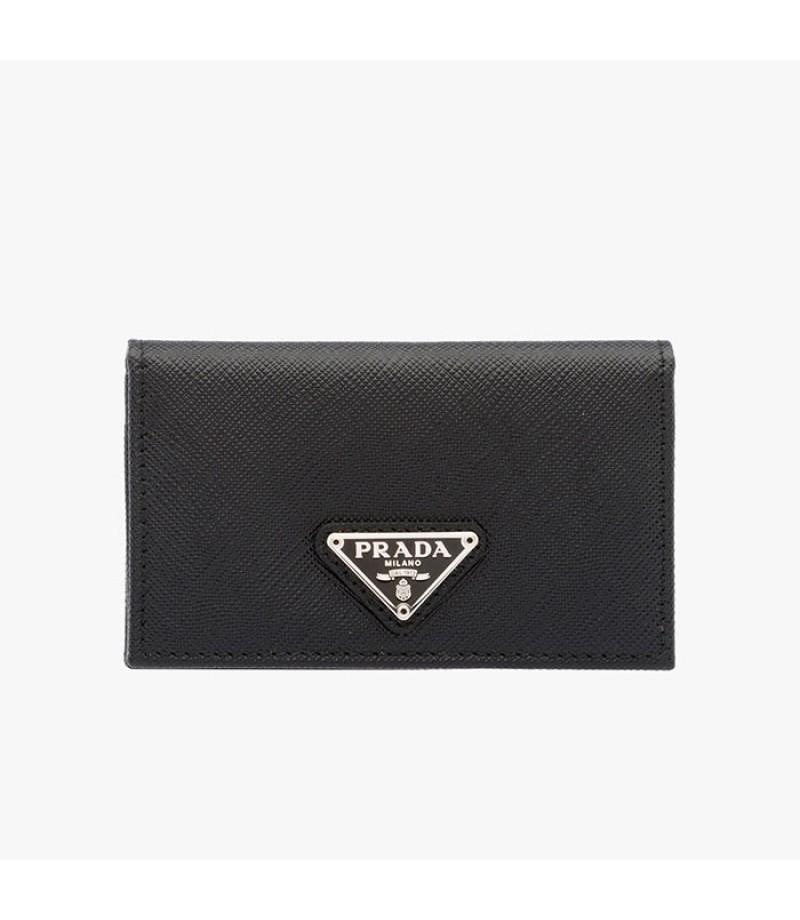 d8efa83816ca ... hot prada 1mc122 leather credit card holder in black 014d0 f2771